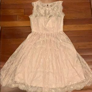 BHLDN Lace Pale Pink Dress